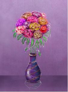 22 April 2021 – Bloemen in een vaasje  – Sonja v/d Linde